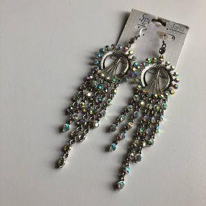 Jewelry - Sophia Collection Long Earrings Aurora Borealis